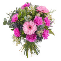 Bouquet of carnations and gerbera daisies