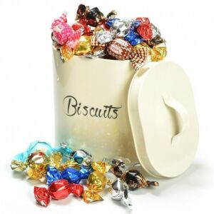 Retro tin of Pralines